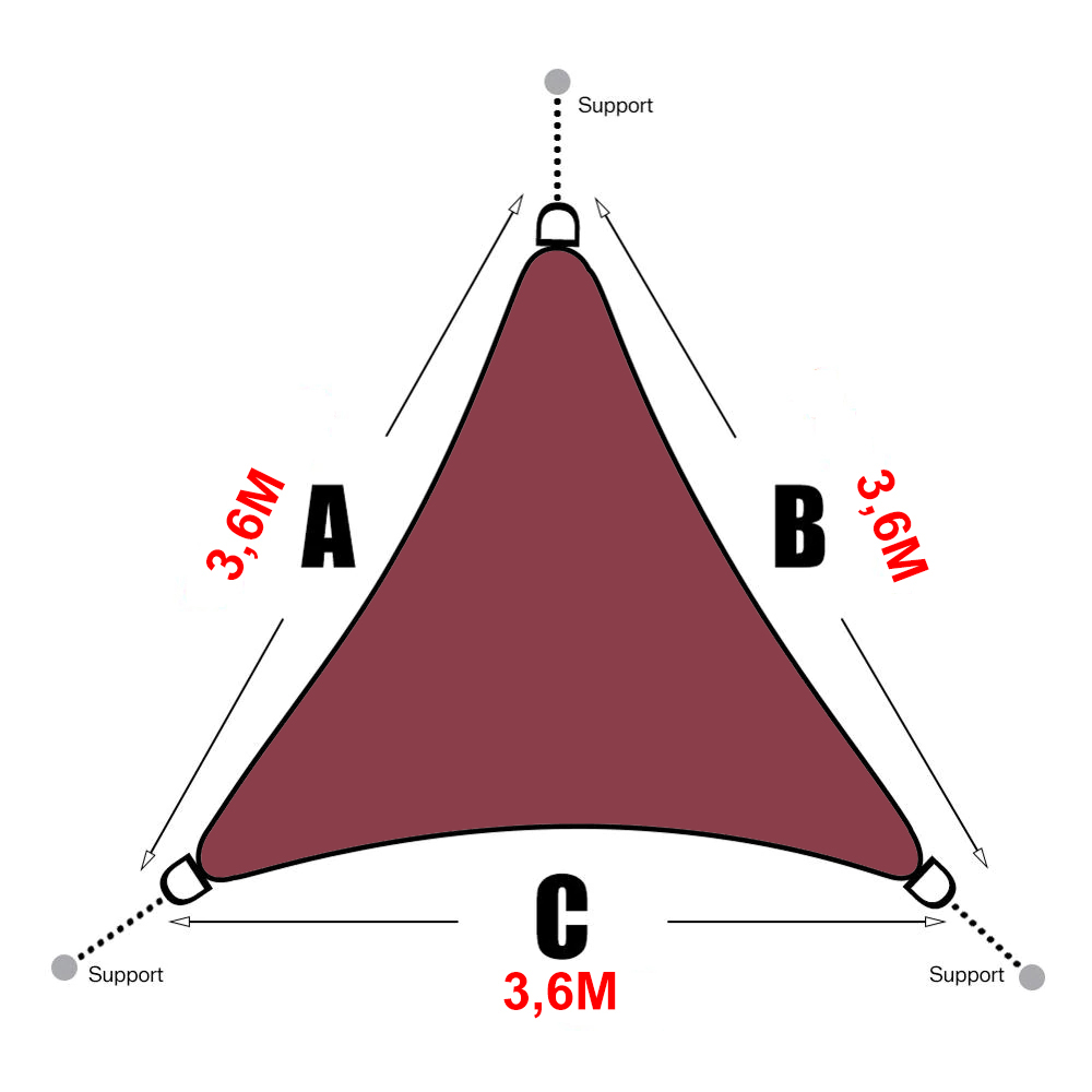 triangle-3,6x3,6x3,6-rouge