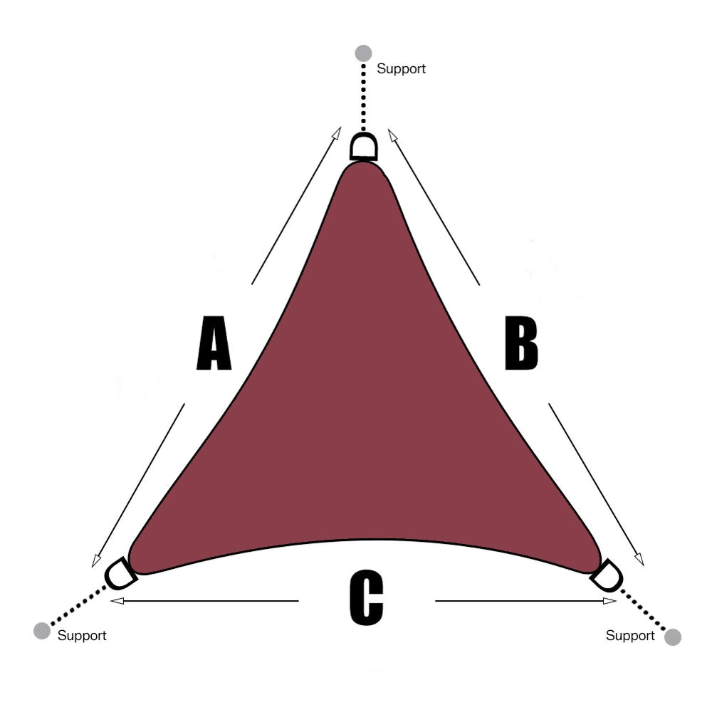 voile-dombrage-triangle-2x2x2-rouge